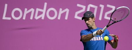 Novak Djokovic Olympics 2012 Practice g