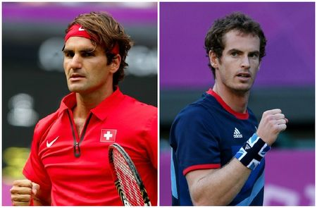 Roger Federer& Andy Murray Olympic Finalists g
