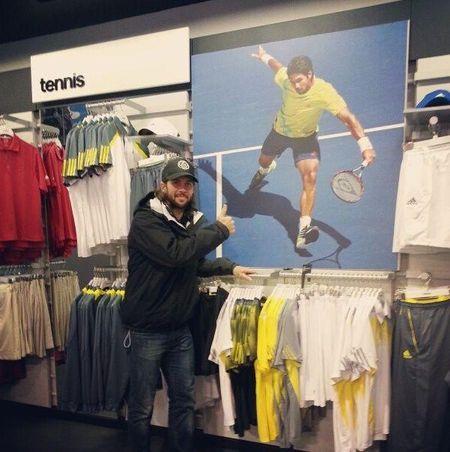 Fernando Verdasco NYC Nike Store