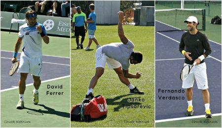 David Ferrer, Janko Tipsarevic, Fernando Verdasco Indian Wells 2013 - Copy