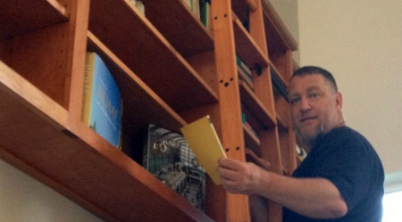 Chux On A Book Ladder - Copy