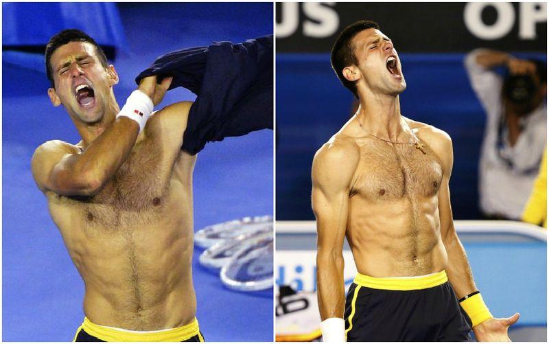 Novak Djokovic Australian Open 2013 4th Round Collage
