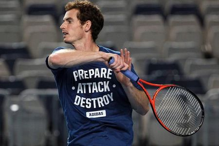 Andy Murray Australian Open 2013 Practice 3
