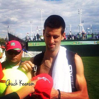 Novak Djokovic Indian Wells 2013 Signing - Copy