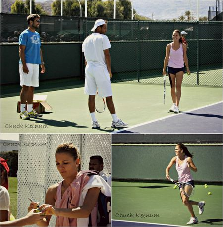 Agnieszka Radwanska Indian Wells 2013 Practice - Copy