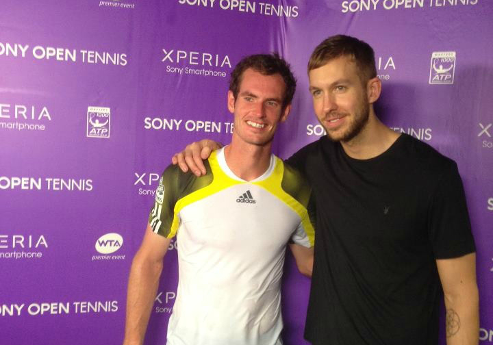 Andy Murray Miami 2013 with Calvin Harris