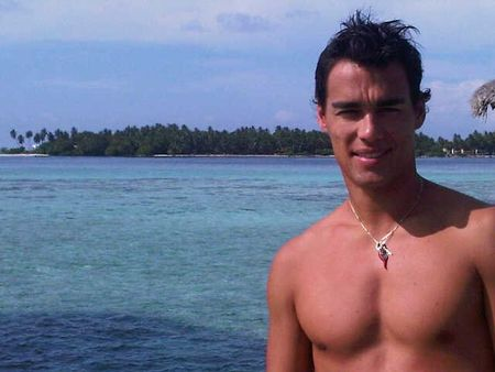 Fabio Fognini Shirtless at the Beach