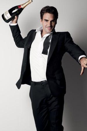 Roger Federer Moet Sponsor 1