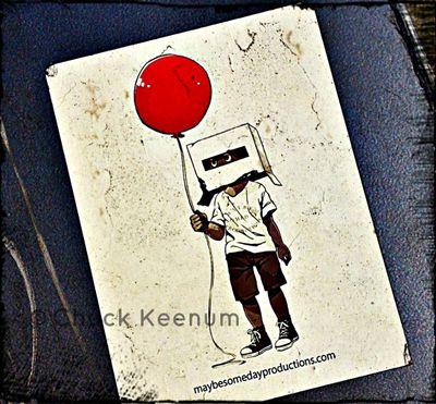 Boy and Balloon Sticker - Lens Angeles