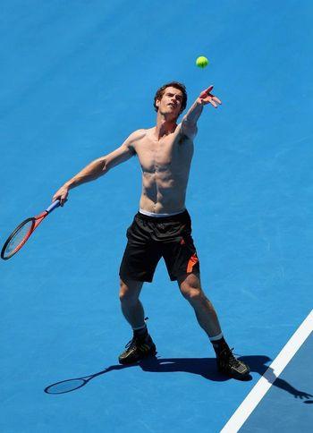 Andy Murray  Aussie Open Practice