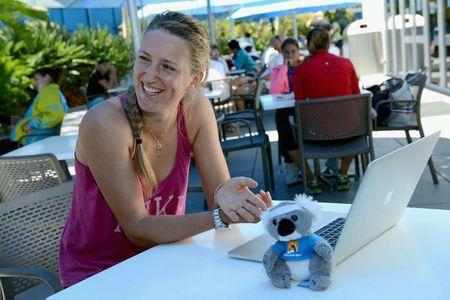 Victoria Azarenka Australian Open 2013 Relaxing