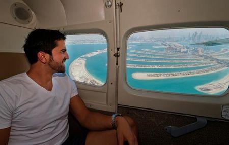 Janko Tipsarevic Flies Over Dubai 2013
