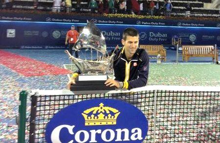 Novak Djokovic Dubai 2013 Winner - 1