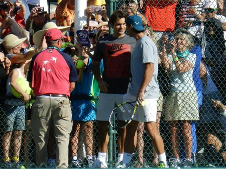 Roger Federer & Rafael Nadal Meet Up Indian Wells 2013