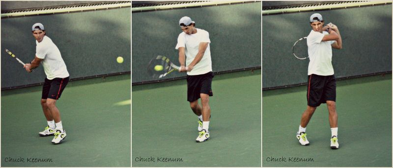 Rafael Nadal Indian Wells 2013 Practice Backhand Stop Motion - Copy