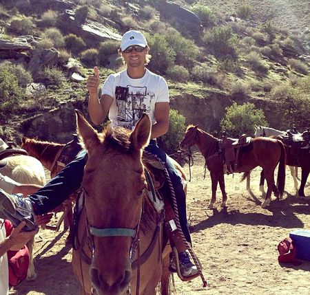 David Ferrer Indian Wells 2013 Horseback Riding