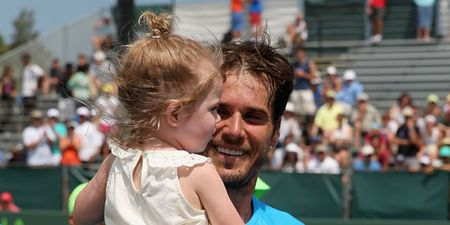 Tommy Haas Miami 2013 with Daughter