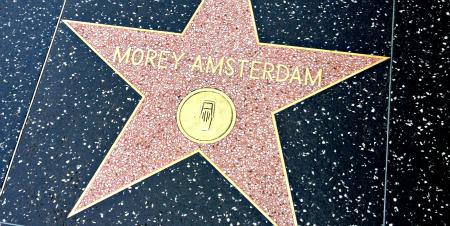 Morey Amsterdam Star on Walk of Fame - Copy