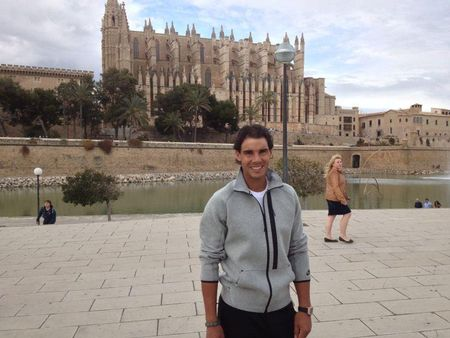 Rafael Nadal Bellver Castle in Palma April 2013