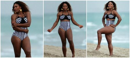 Serena Williams Vibe Bikini Shoot Collage