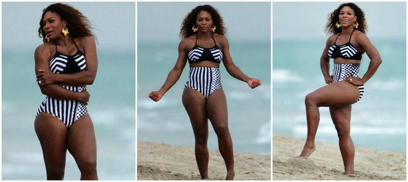 Serena Williams Vibe Bikini Shoot Collage