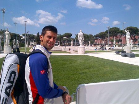 Novak Djokovic Rome 2013 Arrival