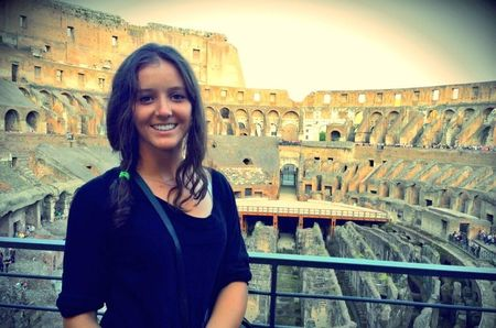 Laura Robson Rome 2013 at Coloseum