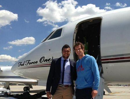 Andy Murray & Jo-Wilfried Tsonga Private Jet
