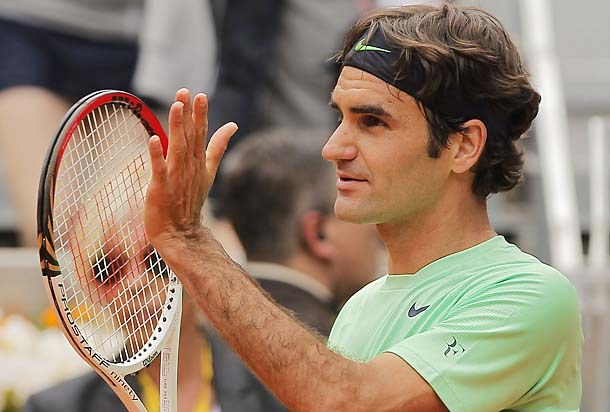 Roger Federer Madrid 2013 2nd Round Win
