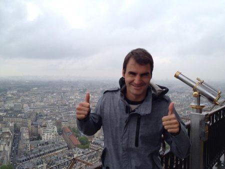 Roger Federer French Open 2013 Eiffel Tower