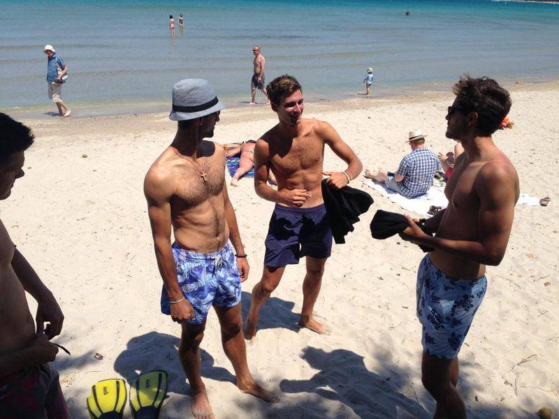 Sexy Shirtless Novak Djokovic And Brothers At The Beach