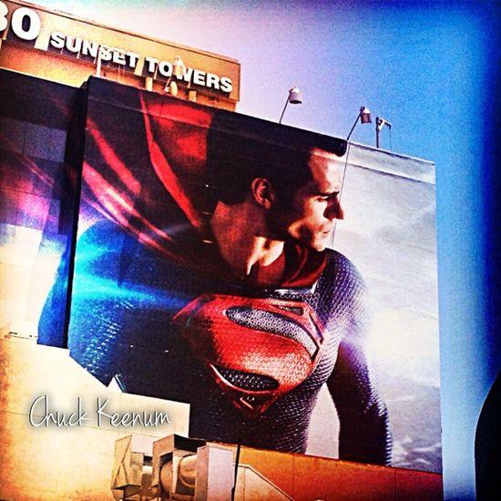 Superman Billboard on Sunset - Lens Angeles