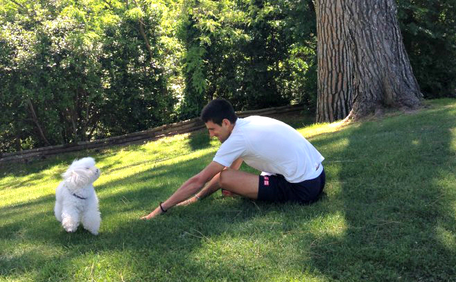 Novak & His Dog Pierre at Rome 2013