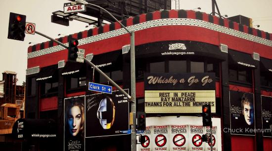 Ray Manzarek RIP at Whisky - Copy
