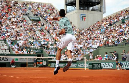 Novak Djokovic French Open 2013 Quarterfinal Win