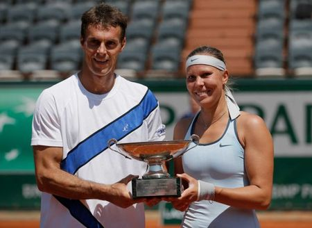Lucie Hradecka & Frantisek Cermak French Open 2013 Mixed Doubles Champions