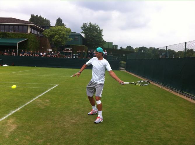 Rafael Nadal Wimbledon 2013 1st Practice