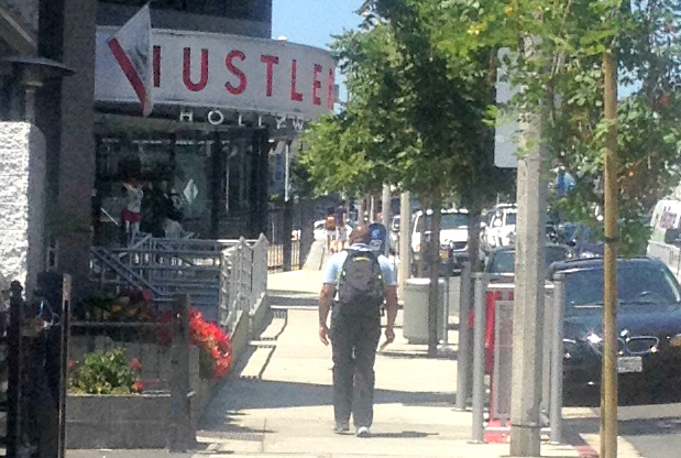Guy Going to Hustler