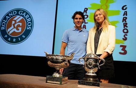Rafael Nadal & Maria Sharapova French Open 2013 Draw Ceremony