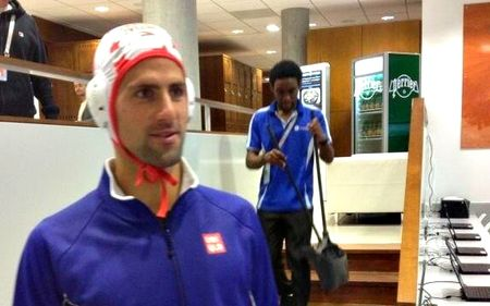 Novak Djokovic French Open 2013 Water Polo Cap