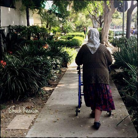 Old Lady Walking - 1 Copy