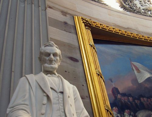 23 Abe Lincoln in Capitol Building Rotunda