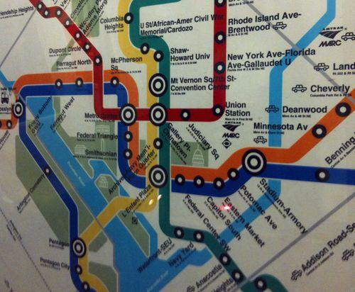 48 D.C. Subway Map